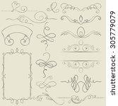 vector set. frames and borders. ...   Shutterstock .eps vector #305779079