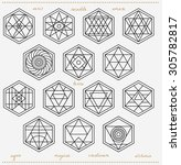 set of geometric shapes. trendy ... | Shutterstock .eps vector #305782817