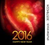 2016  happy new year | Shutterstock .eps vector #305784224
