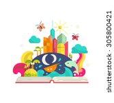 creativity and imagination...   Shutterstock .eps vector #305800421