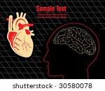abstract brain  heart... | Shutterstock .eps vector #30580078