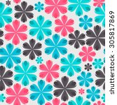 floral seamless pattern...   Shutterstock .eps vector #305817869