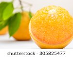 Close Up Of Fresh Orange On Th...