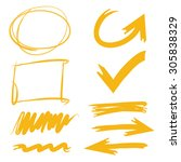 sketch vector set of... | Shutterstock .eps vector #305838329