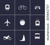 set of icons on transport theme  | Shutterstock .eps vector #305842757