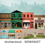 central street. set of elements ... | Shutterstock .eps vector #305843657