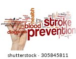 stroke prevention word cloud... | Shutterstock . vector #305845811