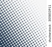 abstract grunge halftone dotted ... | Shutterstock .eps vector #305853911
