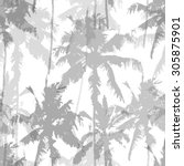 Seamless Pattern With Palm...
