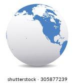 north america  canada  siberia  ... | Shutterstock .eps vector #305877239