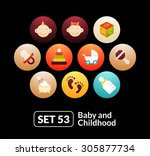 flat icons set 53   baby and...