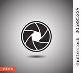 camera objective  icon. one of...