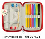 set of school accessories in...