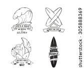 modern sketch isolated set of... | Shutterstock .eps vector #305888369