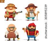 farm professions set 2 | Shutterstock .eps vector #305895239