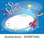 star student award certificate | Shutterstock .eps vector #305897681