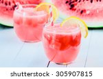 homemade watermelon lemonade | Shutterstock . vector #305907815