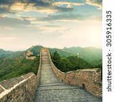 the majestic great wall ... | Shutterstock . vector #305916335