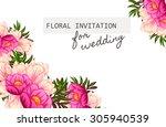 romantic invitation. wedding ... | Shutterstock .eps vector #305940539