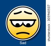 vector smiley sad | Shutterstock .eps vector #305960537