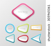 white realistic depth paper... | Shutterstock .eps vector #305965361