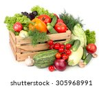 fresh ripe vegetables in a... | Shutterstock . vector #305968991