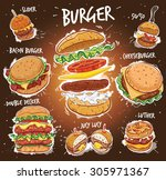 hand drawn vector illustration... | Shutterstock .eps vector #305971367