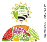 organic food vector illustration | Shutterstock .eps vector #305976119