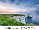 Постер, плакат: Sunset over Old Harry