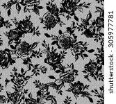 flower illustration pattern | Shutterstock .eps vector #305977781