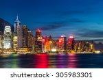 hong kong night view | Shutterstock . vector #305983301