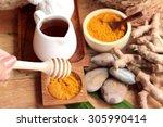 phlai herb  cassumunar ginger... | Shutterstock . vector #305990414