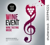 idea concept wine and music.... | Shutterstock .eps vector #305994221