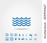 water icons | Shutterstock .eps vector #305994467
