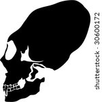 mayan skull silhouette | Shutterstock .eps vector #30600172