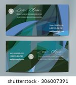 stylish business cards with...   Shutterstock .eps vector #306007391