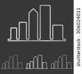 silver line city logo design set | Shutterstock .eps vector #306024011