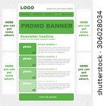 responsive newsletter template... | Shutterstock .eps vector #306028034