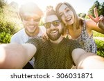 a group of young good looking... | Shutterstock . vector #306031871