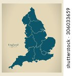 modern map   england uk ... | Shutterstock .eps vector #306033659