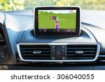 navigation device in the car | Shutterstock . vector #306040055
