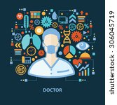 doctor concept design on dark... | Shutterstock .eps vector #306045719