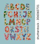 crazy letters alphabet | Shutterstock .eps vector #306060731