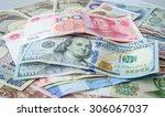 100 yuan china currency... | Shutterstock . vector #306067037