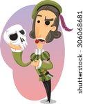 the tragedy of hamlet vector... | Shutterstock .eps vector #306068681