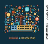 building and construction... | Shutterstock .eps vector #306071621