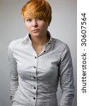 beautiful model in shirt posing | Shutterstock . vector #30607564