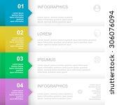 infographics design template.  ... | Shutterstock .eps vector #306076094