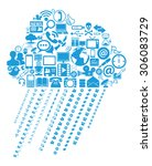 cloud computing concept | Shutterstock .eps vector #306083729