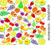 pear apple vector lemon design... | Shutterstock .eps vector #306085439